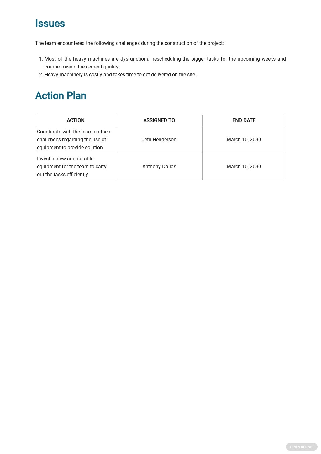 Construction Daily Quality Report Template 3.jpe
