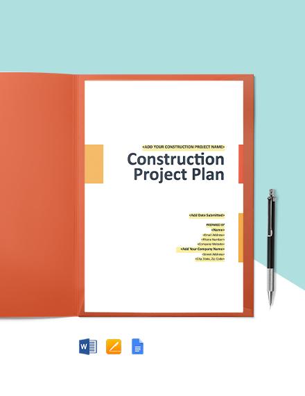 Construction Communication Management Plan Template