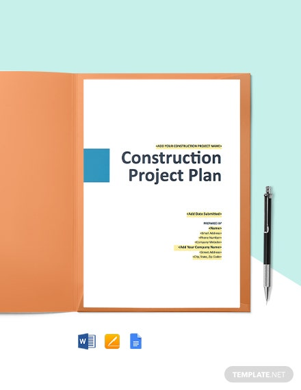 Construction Risk Management Plan Template