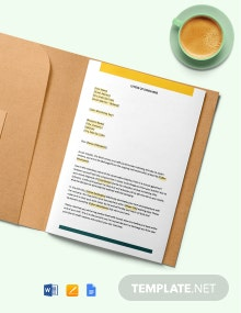 Construction Letter of Discharge Template