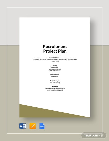 Recruitment Project Plan Template