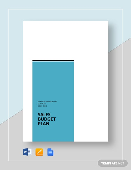 Sales Budget Plan Template
