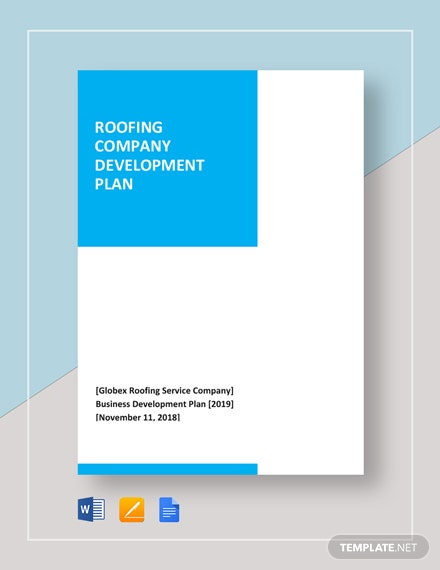 Roofing Company Development Plan