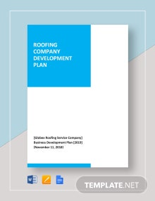 Roofing Company Development Plan Template