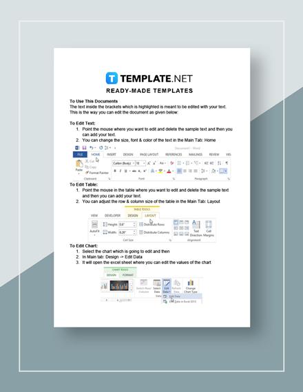 Sample Development Plan Instruction