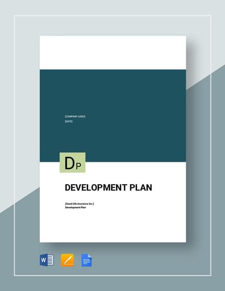 Sample Development Plan Template