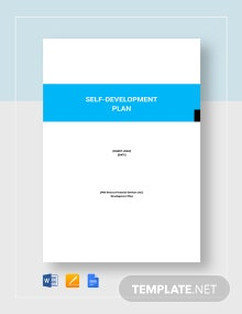 Self-Development Plan Template