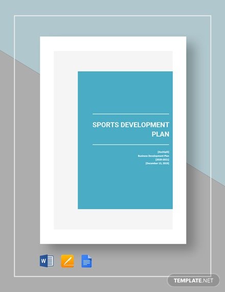 Sports Development Plan Template