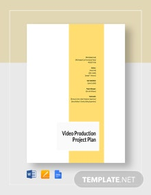 Video production Project Plan Template