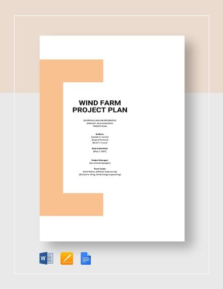 Wind Farm Project Plan