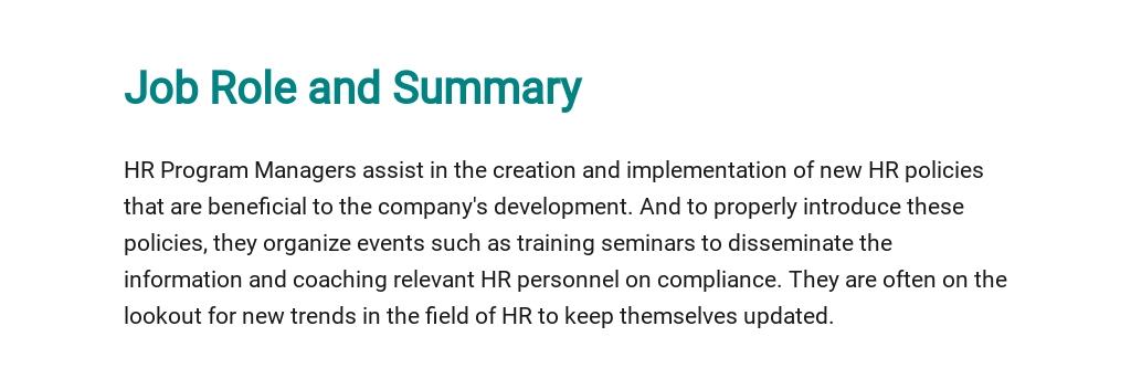 Free HR Project Manager Job Description Template 2.jpe