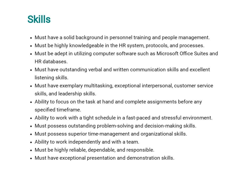 Free HR Project Manager Job Description Template 4.jpe
