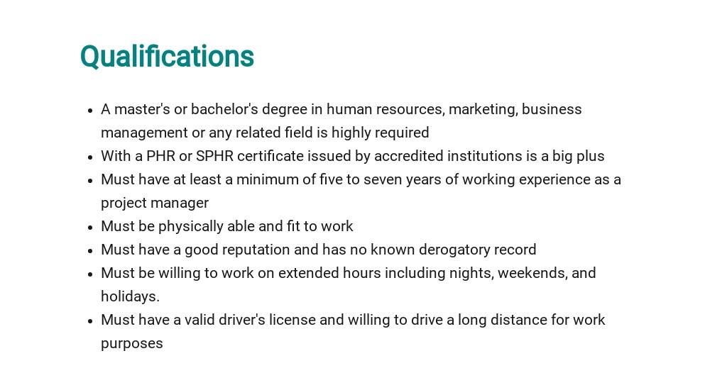 Free HR Project Manager Job Description Template 5.jpe