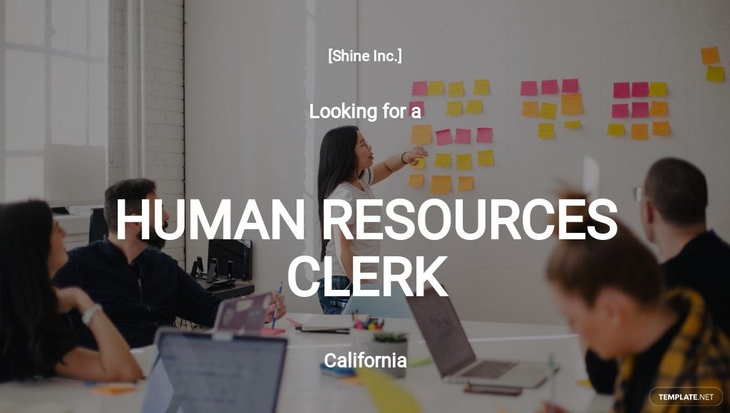 Human Resources Clerk Job Description Template