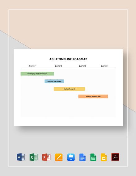 Agile Timeline Roadmap Template