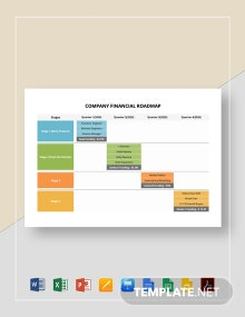 Company Financial Roadmap Template