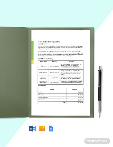 One-Page Construction Project Plan Template