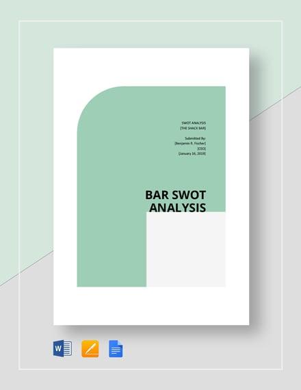 Bar SWOT Analysis Template