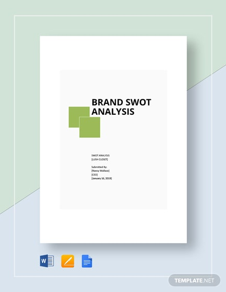 Brand SWOT Analysis Template