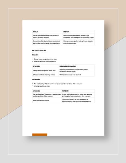 Carpet Cleaner Swot Analysis Download