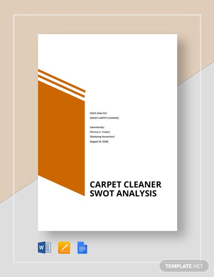 Carpet Cleaner Swot Analysis Template