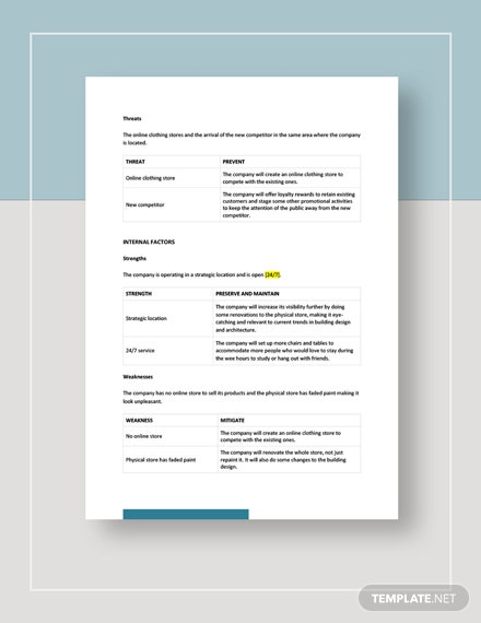 Clothing store swot analysis Download