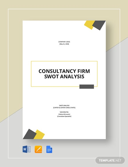 Consultancy Firm SWOT Analysis Template