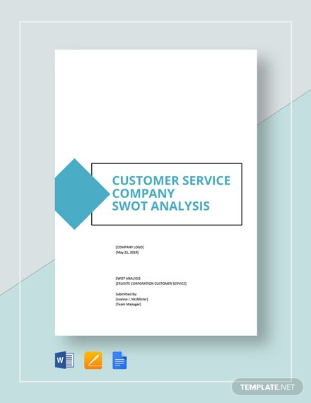 Customer Service Company Swot Analysis Template