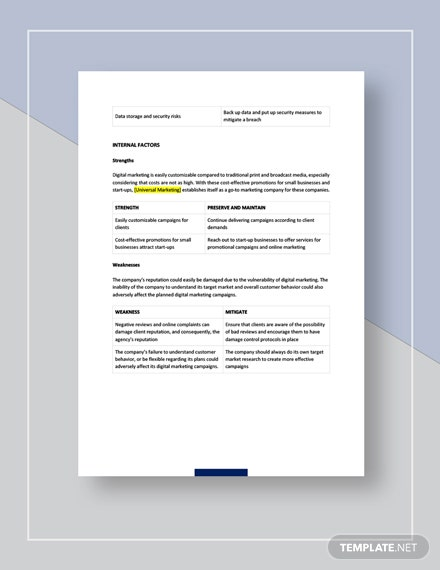 Digital marketing agency swot analysis Download