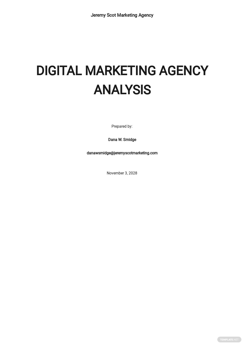 Digital marketing agency swot analysis template.jpe
