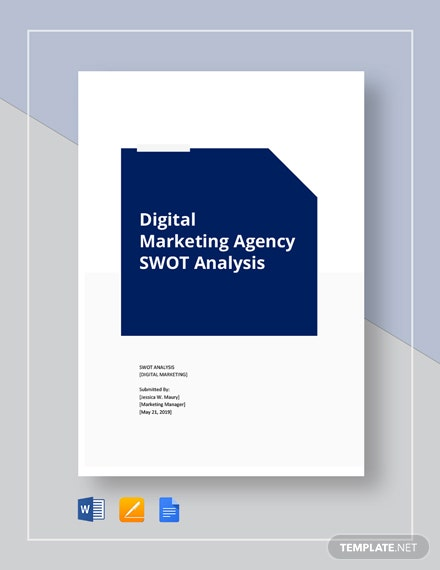 Digital marketing agency swot analysis template