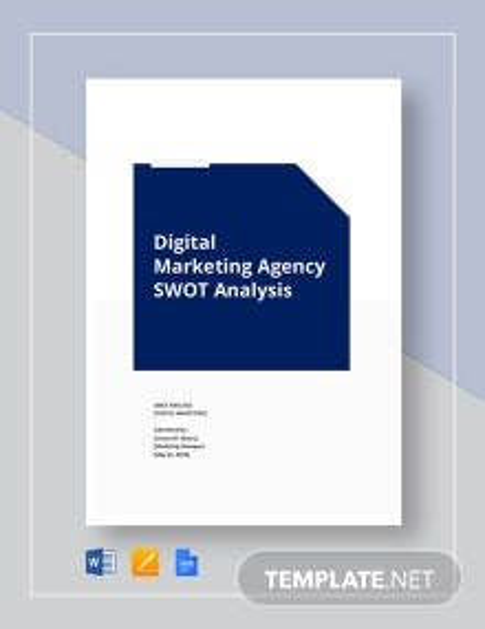 Digital marketing agency swot analysis template