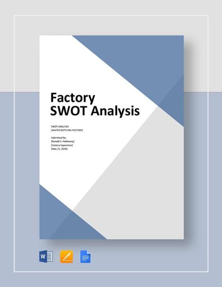Factory Swot Analysis Template