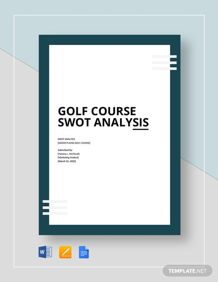 Golf Course Swot Analysis