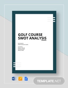 Golf Course Swot Analysis Template