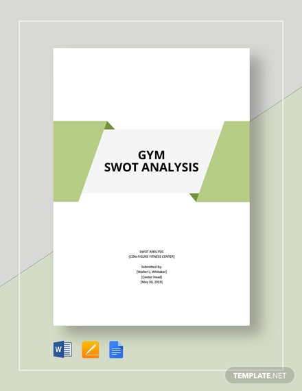Gym SWOT Analysis Template