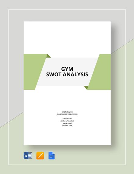 Gym SWOT Analysis Template