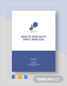 Health & Safety Swot Analysis Template