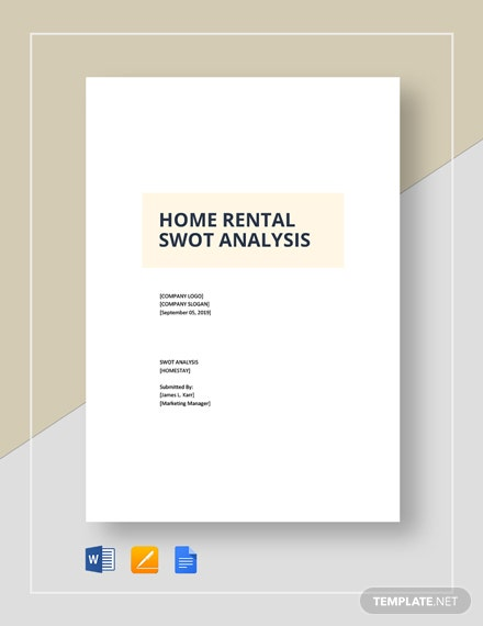 Home Rental Swot Analysis Template