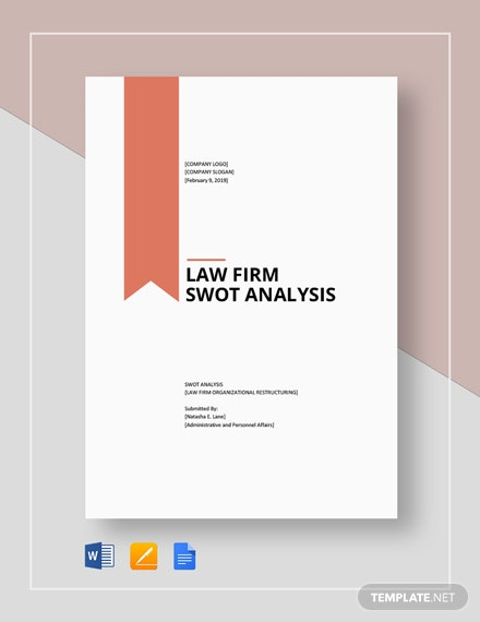 Law firm swot analysis template