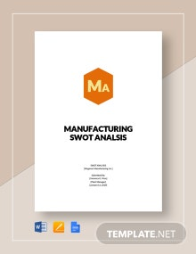 Manufacturing swot analysis template