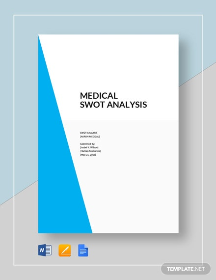 Medical swot analysis template