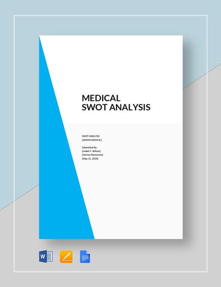 Medical swot analysis template