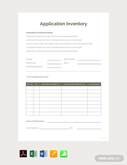 Free-Application-Inventory-Template