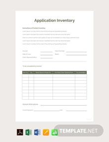 Free Application Inventory Template
