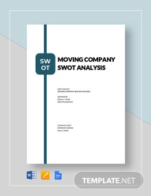 Moving Company swot analysis template