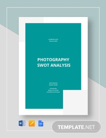 Photography SWOT Analysis Template