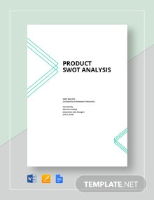 Product SWOT Analysis Template
