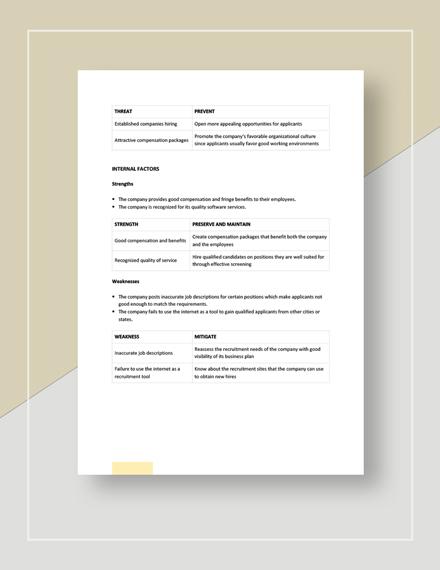 Recruitment swot analysis Download