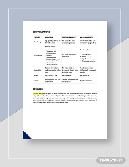 Sales competitive analysis Download
